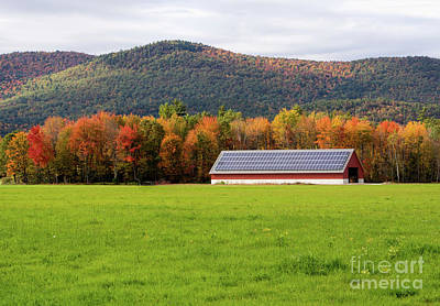 Photograph - Autumn Scene, Fryeburg, Maine #50301 by John Bald