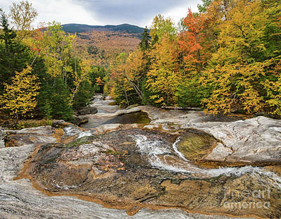 Photograph - Autumn Scene, Step Falls, Newry, Maine #40138 by John Bald
