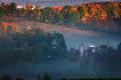 Bucolic Scenes Photograph - Autumn Scenic - West Rupert Vermont by Thomas Schoeller