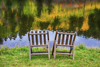 Photograph - Autumn Season Romantic Lake View For Two by James BO Insogna