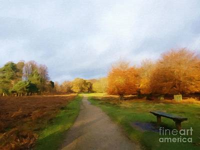 Mixed Media - Autumn Seat by Abbie Shores