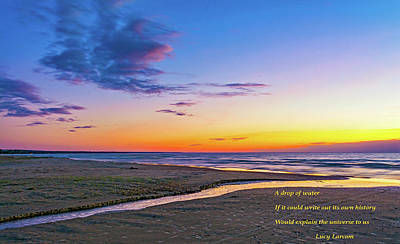 Photograph - Autumn Serenity - Philosophical Musings 2 by Steve Harrington