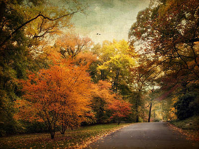 Autumn Road Photograph - Autumn Settles In by Jessica Jenney