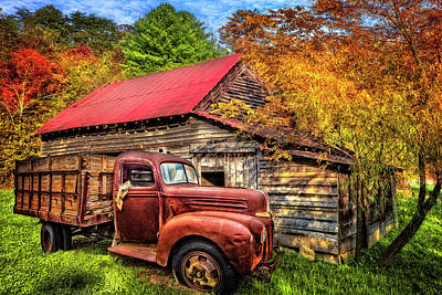 Photograph - Autumn Shades Of Red And Gold by Debra and Dave Vanderlaan