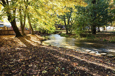 Photograph - Autumn Shadows On Fishtrap Creek by Tom Cochran