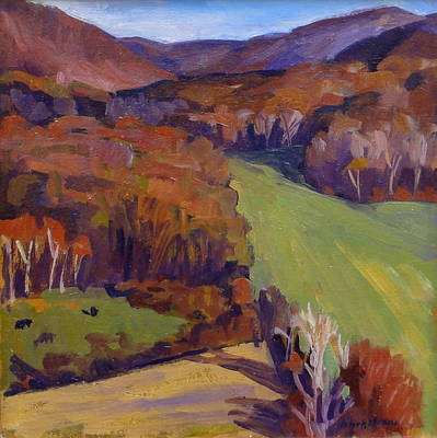 Abstract Realist Landscape Painting - Autumn Shapes by Thor Wickstrom
