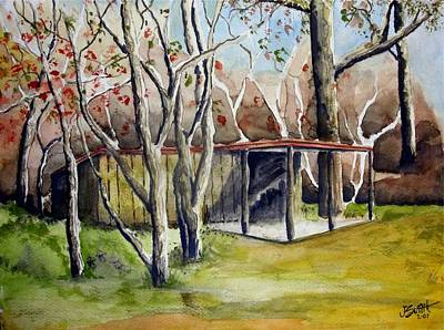 Autumn Shed Print by Jimmy Smith
