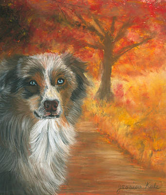 Pastel - Autumn Shepherd by Jessica Kale