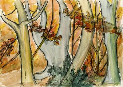 Painting - Autumn Sketch by Wendy Le Ber