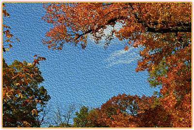 Buy Tshirts Digital Art - Autumn Sky by Sonali Gangane