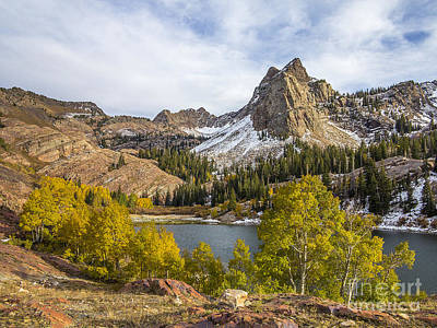 Autumn Snow At Lake Blanche Art Print