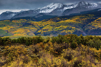 Photograph - Autumn Snow Clouds Over West Beckwith by John De Bord