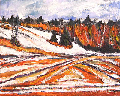 Painting - Autumn Snow by Debora Cardaci