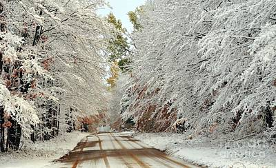 Autumn Snow In Pure Michigan Art Print