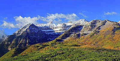 Photograph - Autumn Snow On Timp by Johnny Adolphson