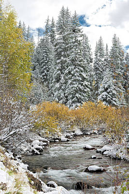 Photograph - Autumn Snowfall On Castle Creek by Jemmy Archer