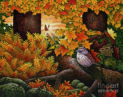 Painting - Autumn Sparrow by Michael Frank