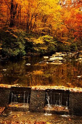 Autumn Photograph - Autumn Spillway by Greg Mimbs