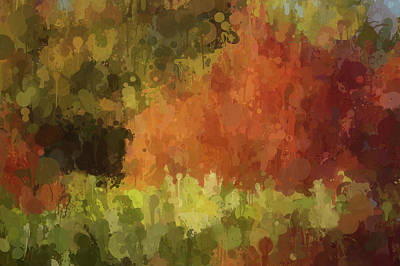Autumn Leaf Digital Art - Autumn Splash by Art Spectrum