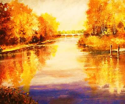 Painting - Autumn Gateway by Al Brown