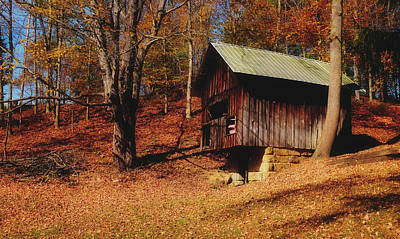 Photograph - Autumn Springhouse by Pixabay