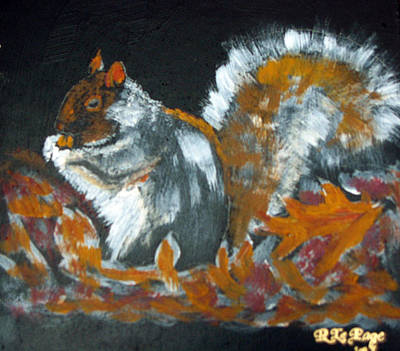 Painting - Autumn Squirrel by Richard Le Page