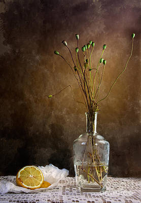 Vase Table Photograph - Autumn Still Life by Nailia Schwarz