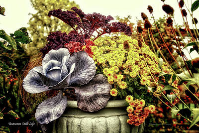 Autumn Colored Quilts Photograph - Autumn Still Life by Thomas Woolworth