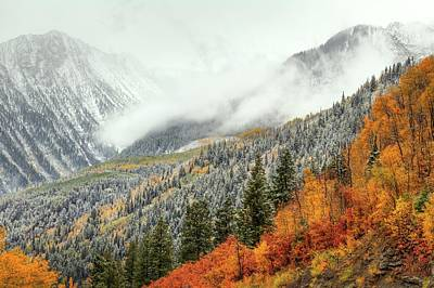 Stormy Weather Photograph - Autumn Storm At Mc Clure Pass by Bill Sherrell