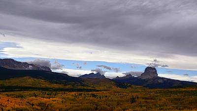 Photograph - Autumn Storm Clouds Over Chief Mountain by Tracey Vivar