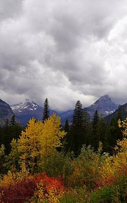 Photograph - Autumn Storm Clouds Over Glacial Mountains  by Tracey Vivar