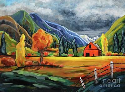 Autumn Storm Art Print by Harriet Peck Taylor
