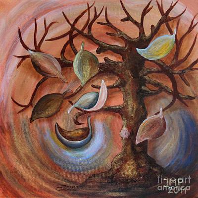 Painting - Autumn Storm by Jutta Maria Pusl