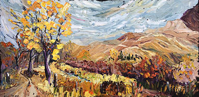 Painting - Autumn Storm Near Dillon by Carrie Jacobson