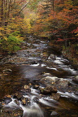 Smoky Mountains Photograph - Autumn Stream by Andrew Soundarajan