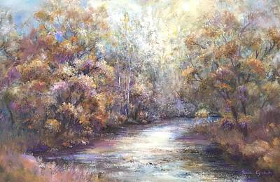 Painting - Autumn Stream by Bonnie Goedecke