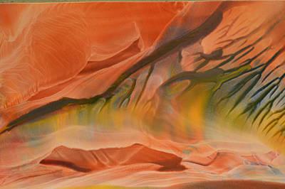 Mountainous Mixed Media - Autumn Surge by Maureen Thulin