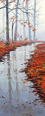 Gercken Painting - Autumn Stream by Graham Gercken