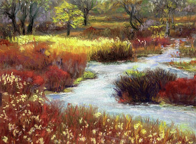 Pastel - Autumn Stream by Harriett Masterson