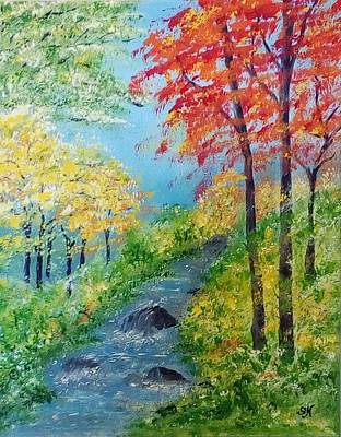 Painting - Autumn Stream by Sonya Nancy Capling-Bacle