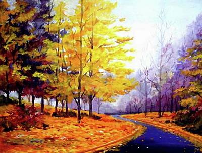 Painting - Autumn Street by Samiran Sarkar