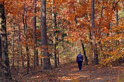 Autumn Stroll Art Print by Gayle Johnson