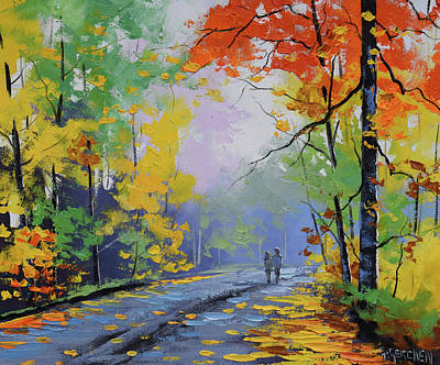 Paintings - Autumn Stroll by Graham Gercken