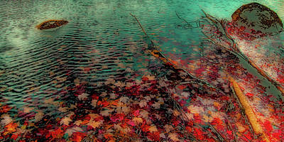 Print featuring the photograph Autumn Submerged by David Patterson