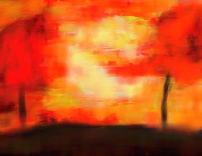 Warm Colors Painting - Autumn Sun by Dan Sproul