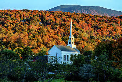 Photograph - Autumn Sun On Stowe Church by Jeff Folger