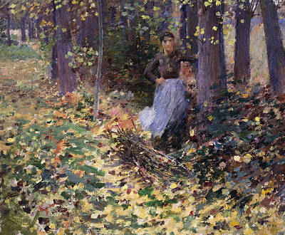 Against The Sunlight Painting - Autumn Sunlight, 1888 by Theodore Robinson