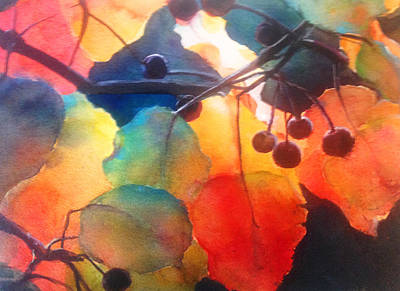 Painting - Autumn Sunlight by J Worthington Watercolors