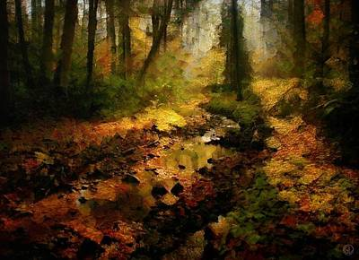Clearing Digital Art - Autumn Sunrays by Gun Legler