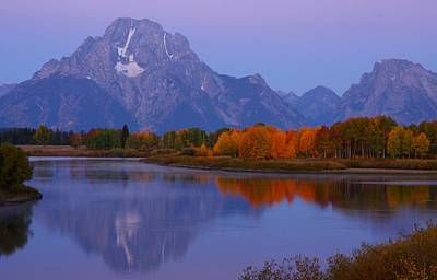 Photograph - Autumn Sunrise At Mount Moran In Grand Teton National Park by Jetson Nguyen